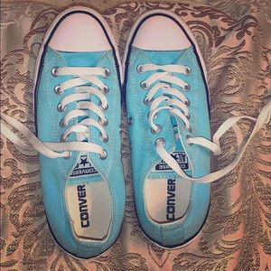 Women's turquoise converse shoes